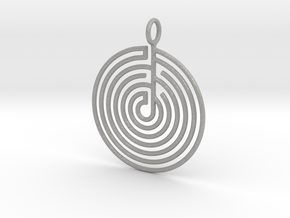 mystery little labyrinth Pendant in Aluminum