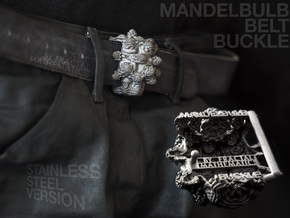 MANDELBULB BELT BUCKLE - Steel Version in Polished Bronzed Silver Steel