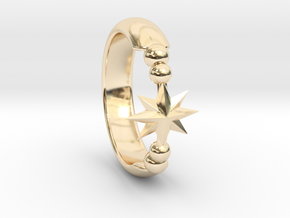 Ring of Star 14.5mm in 14K Yellow Gold