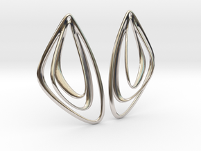 The Minimalist Earrings Set I (1 Pair) in Rhodium Plated Brass