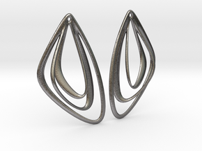 The Minimalist Earrings Set I (1 Pair) in Polished Nickel Steel