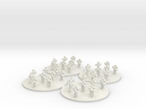 Sci Fi Infantry Platoon (based) 6mm SFP in White Natural Versatile Plastic