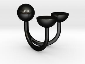 Love Story - Size L in Matte Black Steel