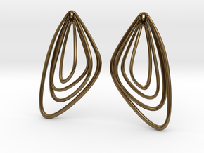 The Minimalist Earrings Set II (1Pair) in Polished Bronze