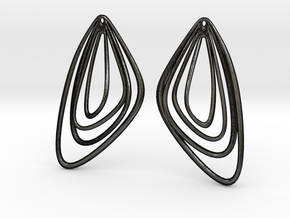 The Minimalist Earrings Set II (1Pair) in Matte Black Steel