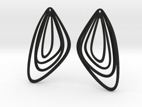 The Minimalist Earrings Set II (1Pair) in Black Natural Versatile Plastic