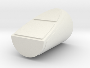 1/48th scale Side Booster Cap for Hawk Left in White Natural Versatile Plastic