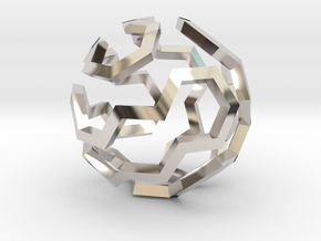 Hamilton Cycle on Soccer Ball (Extra Small) in Platinum