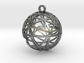 Craters of Callisto Pendant in Natural Silver