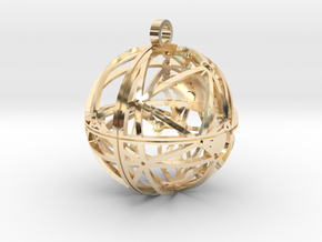 Craters of Rhea Pendant in 14K Yellow Gold