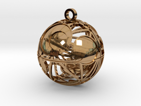 Craters of Iapetus Pendant in Polished Brass