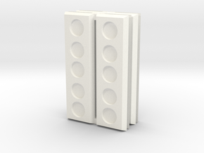 8 Strip bases in White Processed Versatile Plastic