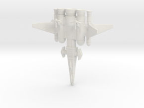 Galaxy Alliance Earth Warship in White Strong & Flexible