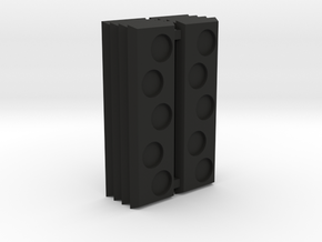 Strip base staggered holes in Black Natural Versatile Plastic