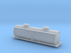 Two Dome Tank Car - Zscale in Smooth Fine Detail Plastic