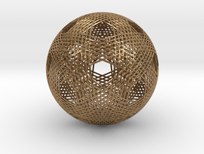 Dodecahedron vertex symmetry weave  in Natural Brass