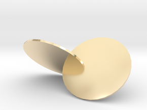 Wobbly Circles in 14k Gold Plated Brass