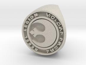 Custom Signet Ring Rebel Legion Size 6 in Natural Sandstone