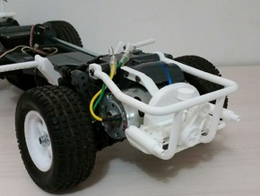TAMIYA MF01X ENGINE REPLICA AND REAR CAGE  in White Processed Versatile Plastic