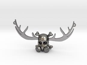BADAS horns pendant in Polished Nickel Steel