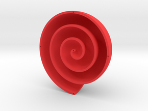 Archimedean Vortex Shell CCW in Red Processed Versatile Plastic