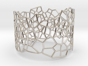 Voronoi Bracelet size M in Rhodium Plated Brass