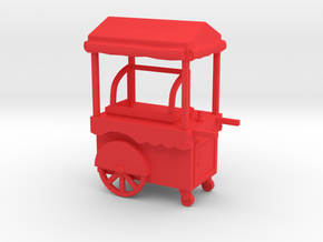 Food Cart 01. HO scale (1:87) in Red Processed Versatile Plastic