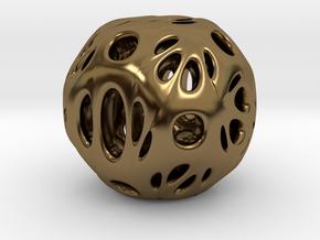 hydrangea ball 03 in Polished Bronze