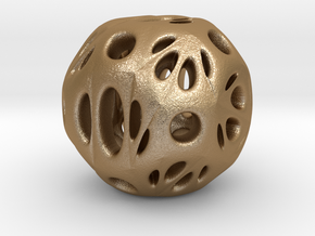 hydrangea ball 03 in Matte Gold Steel
