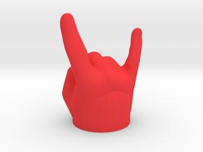 Mano Cornuta / gehörnte Hand - Kappe für Anhänger in Red Processed Versatile Plastic