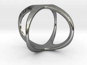 X Cross rind design in Fine Detail Polished Silver