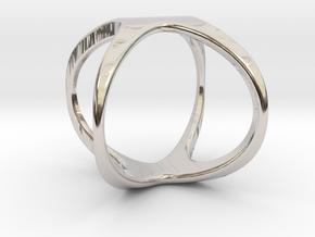 X Cross rind design in Rhodium Plated Brass