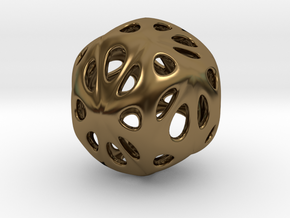 hydrangea ball 04 in Polished Bronze