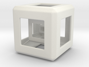 Triple Hyper Cube  in White Natural Versatile Plastic