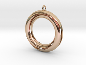 Mobius 3 Pendant in 14k Rose Gold Plated Brass