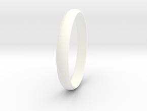 Ring Size 5 Design 3 in White Processed Versatile Plastic