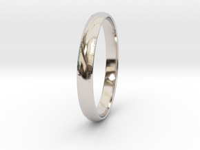 Ring Size 5.5 Design 3 in Rhodium Plated Brass