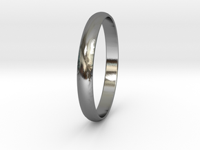 Ring Size 6 Design 3 in Polished Silver