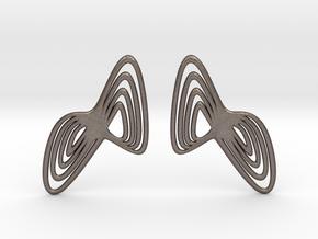WAVE Earrings (1 Pair) in Polished Bronzed Silver Steel