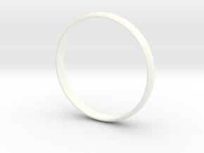 Ring Size 8 Design 3 in White Processed Versatile Plastic