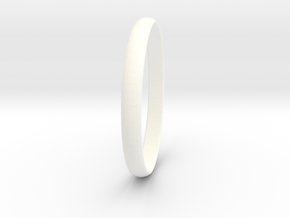 Ring Size 8.5 Design 3 in White Processed Versatile Plastic