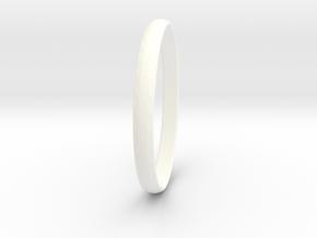 Ring Size 10.5 Design 3 in White Processed Versatile Plastic