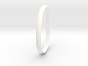 Ring Size 12 Design 3 in White Processed Versatile Plastic