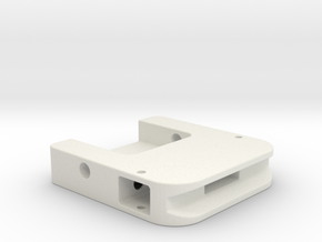 PP Cape Clip-Housing in White Natural Versatile Plastic