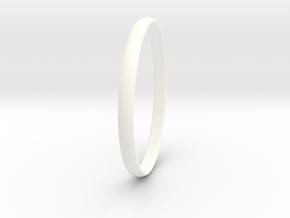 Ring Size 11.5 Design 4 in White Processed Versatile Plastic