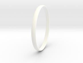 Ring Size 12 Design 4 in White Processed Versatile Plastic