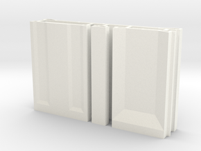 SciFi Pillar And Walls - Basic Wall Set Hollow in White Strong & Flexible Polished