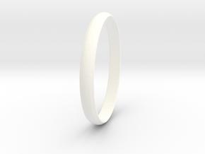 Ring Size 9 Design 4 in White Processed Versatile Plastic