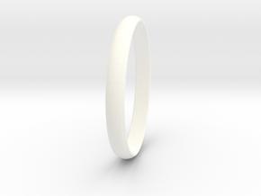 Ring Size 8 Design 4 in White Processed Versatile Plastic
