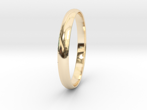 Ring Size 7 Design 4 in 14K Yellow Gold